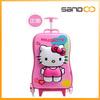 2014 Hello Kitty Kids Trolley School Bag,Girl Trolley School Bag