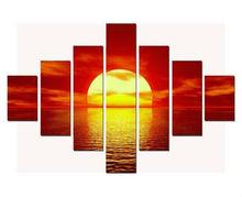 7 pcs Sunset over Seas Photos Paintings on Framed canvas ART
