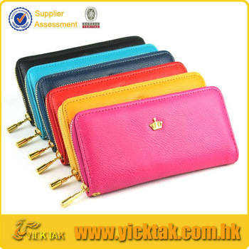 Colorful Leather Cheap Lady Wallet