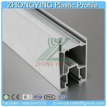 60mm white casement window upvc window section profile
