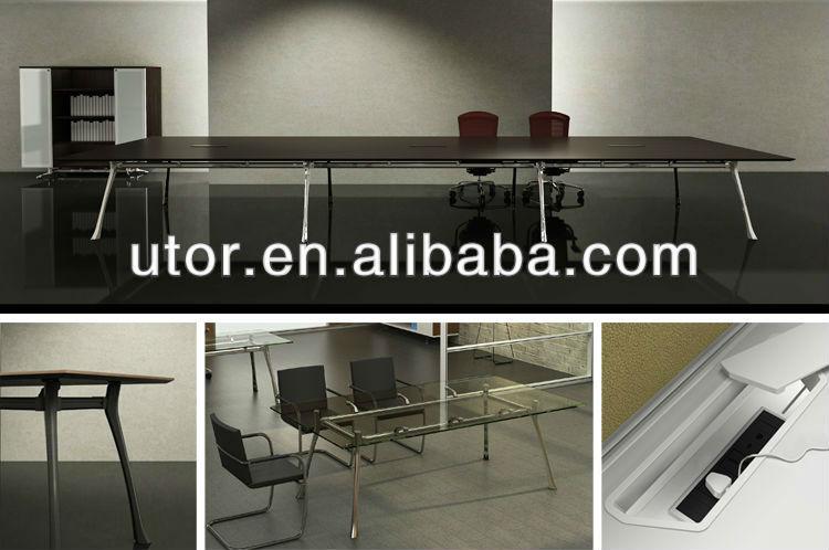 أثاث المكاتب الحديثة زجاج طاولة المكتب مع الأسلاك مربع( flx-- سلسلة)