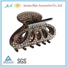 Fashionable women hair barrettes with rhinestones