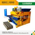 Usado fábrica de tijolos, usado planta bloco de concreto, móvel usado máquina de fazer bloco qtm6-25( marca dongyue)