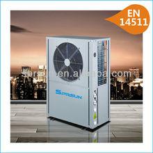high cop air source heat pump water heater12kw ( hot water or floor heating)