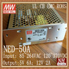 Mean well 50w 5V 12V power supply/50w dual power supply/power supply 50w