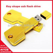 Promotion gold key usb, 32gb usb flash drive