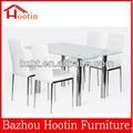 retângulo moderna de alta qualidade de vidro temperado de cavalete de mesa de jantar para venda h316