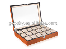 GC02-SM-18W luxury watch display case 18 slots solid wood material 18 slots watch box new craftwork
