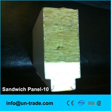 mineral wool sandwich panel with pu side