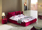 B63# facbric furniture used double bed