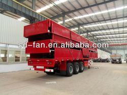 flat deck semi trailer transport container