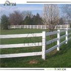 "3 Rails PVC Ranch Fence / Vinyl ranch fence (53"" x 96"")"