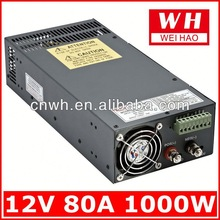 CE RoHS approved 1000w 12v ac to dc transformer SCN-1000-12 led transformer switch