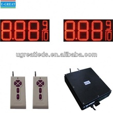 China manufacturer customized IP65 waterproof led fuel price money board stand