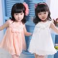 2014 venda quente! 3 ano velho novo crianças-modelo flor menina vestido
