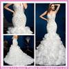 WD1815 Beautiful Cheap Made in China New Style Asymmetric Hemline Chiffon Mermaid Alibaba Julie Vino Wedding Dresses in Dubai
