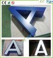 Personnalisé en acier inoxydable led signer la lettre channel/acrylique. rétroéclairé 3d signer des lettres en acier inoxydable