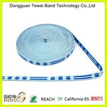 "5/8"" 100% nylon and high quality custom Logo Jacquard elastic webbings for the waistband"