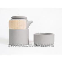 simple life tea pot/ tea cup /tea sets with wooden Grill Tools