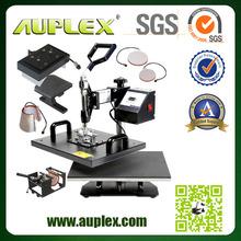 top quality t-shirt mug plate cap Combo Heat transfer sublimation t-shirt printing heat press machine