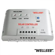 Wellsee inteligente de bateria solar controlador de carga 12 V 24 V 60A WS-AL2460 para sistema de luz solar