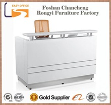 Hot selling white Lacquer finish round reception counter
