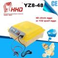 Yz8-48 volle automtaic mini 48 Huhn Eier oder 132 wachteleier inkubator Preis mit 98% schlupfrate