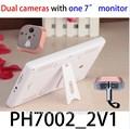Pulgadas 7 2.4 ghz inalámbrico puerta visor peephole, peephole de vídeo cámara de la puerta, visión nocturna inalámbrica electrónicos de ojo de gato