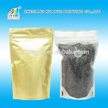 2015 New Durable Front Clear and Back Foil Ziplock Bag, Ziplock Standing Bag