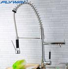 High quality pull out spring kitchen tap brass kitchen sink faucet