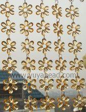 Cheap Charm Acrylic Imitation Crystal Plastic Flower Shape Clear Curtains For Party