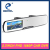 2.7'' Full HD 1080p car dvr rearview mirror with IR day and night vision for recording