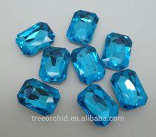 lake blue rectangle glass stones