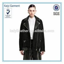 online shopping wool leather black ladies short coat design