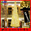 Shopping mall Yellow color Giant Xmas tree made in China