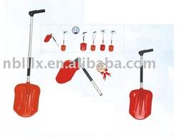 Multi-functional plastic shovel
