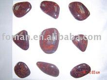 red pietersite irregular cabochon