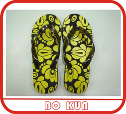 custom printed cheap eva flip flops with pvc strap