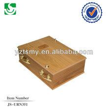 Professional golden plastical handles wholesale wooden pet casket