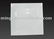 White plastic rice plate