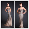 Sleeveless Beaded Shiny Sexy Grace Evening Dresses Mermaid Cut