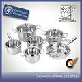 12 pc tapa de vidrio de acero inoxidable utensilios de cocina