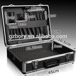 Fashion black diamond aluminum case,aluminum barber tool case