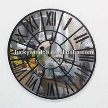 description for waste material art craft round vintage metal digital wall clock