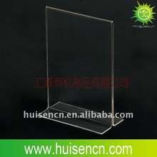 T frame Acrylic menu holder for hotel and restaurant