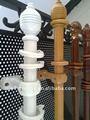 Colgar de madera decorativa cortina de la ventana varillas/polos/tubos para la decoración del hogar