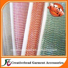 10Yard SS12 colorful 3mm AB Rhinestone banding Trim plastic chain bottom