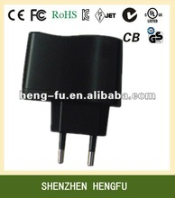 Universal 3V 0.5A mobile phone usb Power Adapter