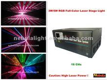 pro laser light full-color 3W/5W RGB,dj/disco/Christmas light