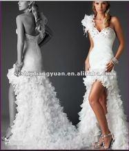 2012 white new design good quality low price arabic wedding dress